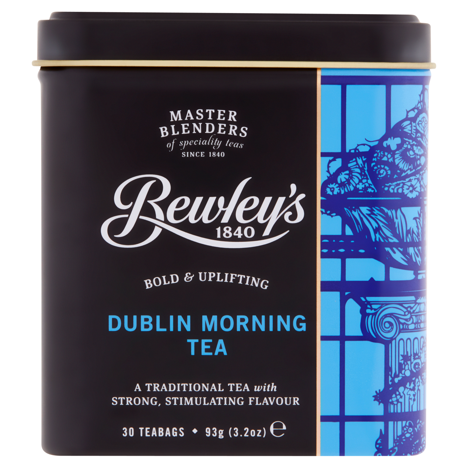 Bewley's Dublin Morning Teabags 30s In Tin