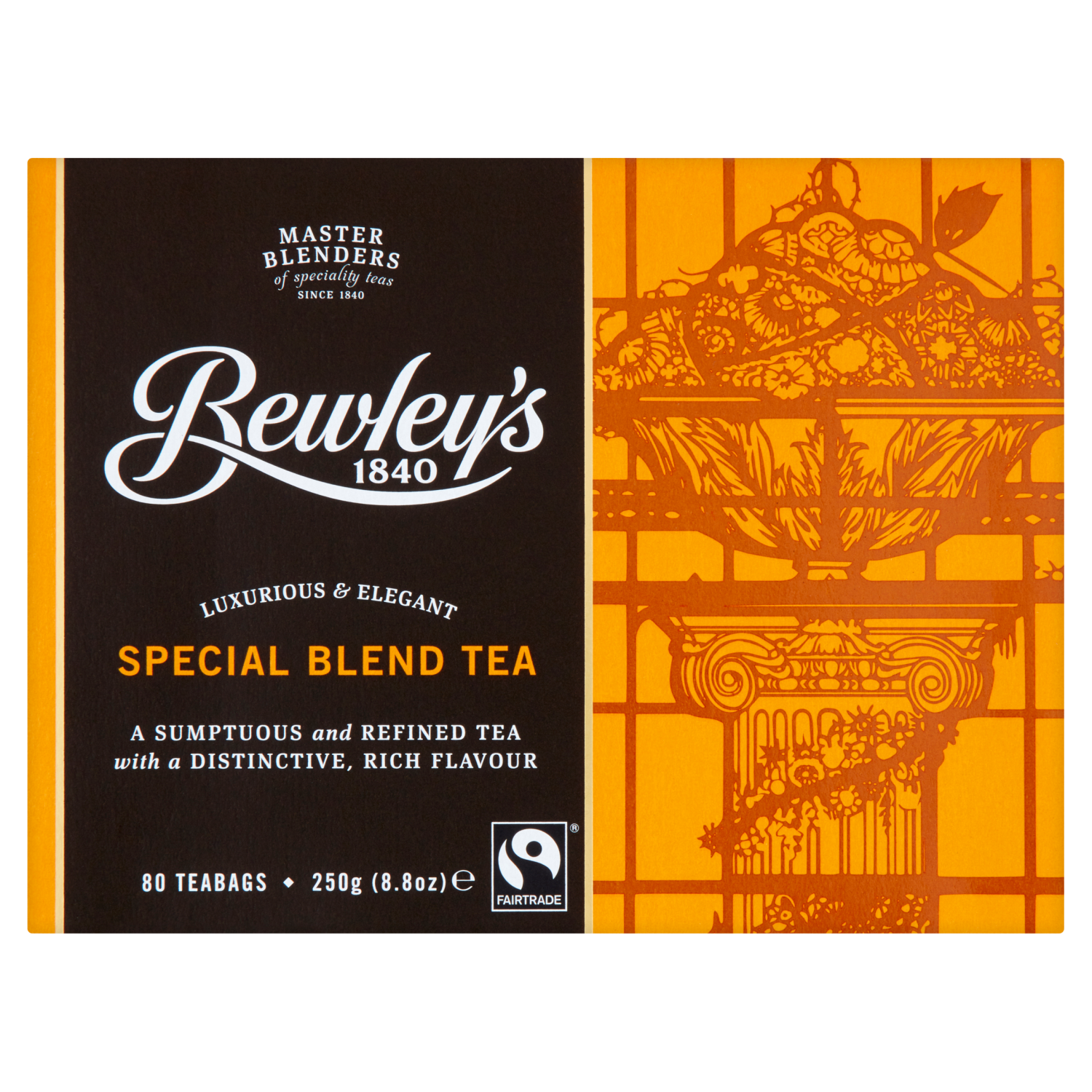 Bewley's Fairtrade Special Reserve Blend Tea Bags – 80 Ct.