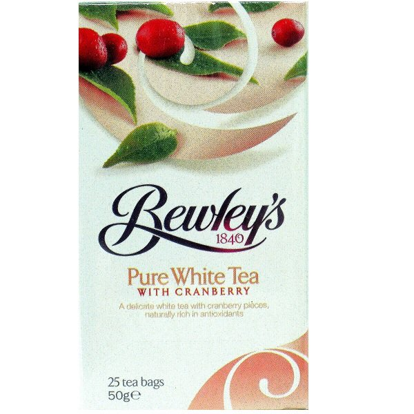 Pure White Tea With Cranberry Tea Bags – 25 Ct.